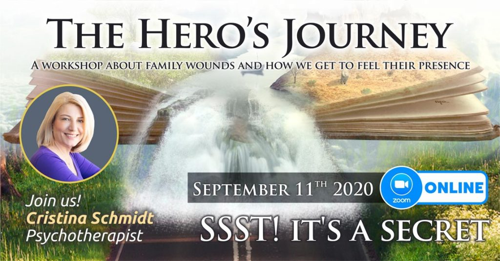 """September 11th 2020 – ONLINE – Transgenerational Psychotherapy Group – """"The Hero's Journey"""", Bucharest, Romania"""