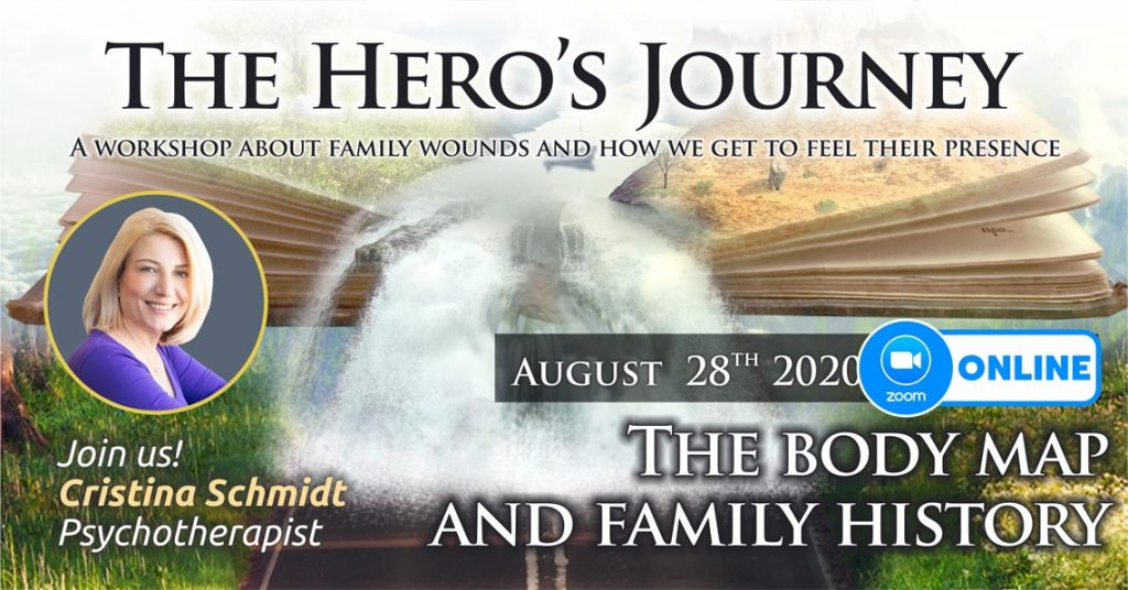 """August 28th 2020 – ONLINE – Transgenerational Psychotherapy Group – """"The Hero's Journey"""", Bucharest, Romania"""