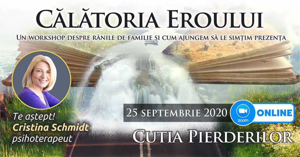 "25.09.2020 – ONLINE <span>⚑</span> – Grup de psihoterapie transgenerationala – ""Calatoria Eroului"""