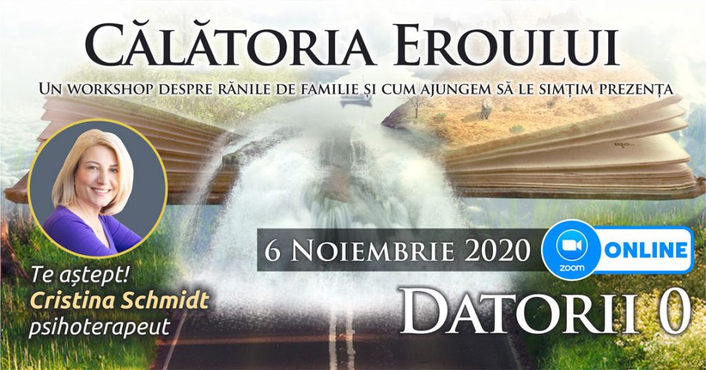 "06.11.2020 – ONLINE <span>⚑</span> – Grup de psihoterapie transgenerationala – ""Calatoria Eroului"""
